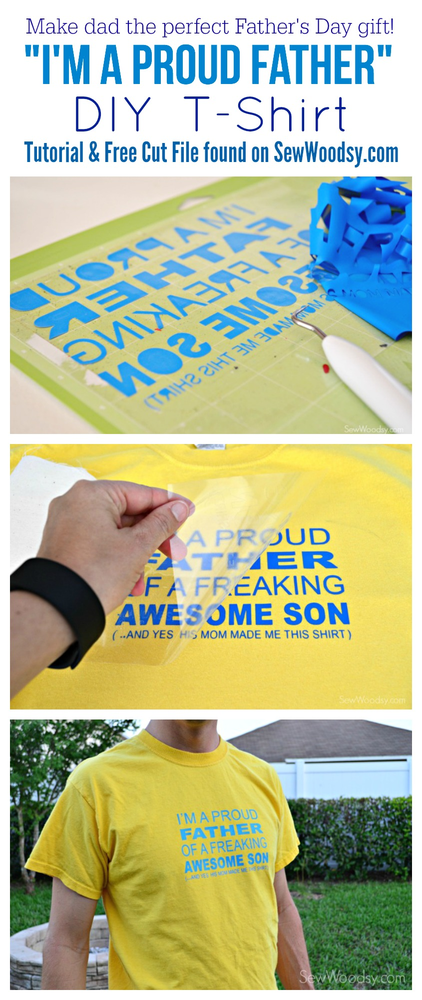 "DIY ""I'm A Proud Father"" T-Shirt"