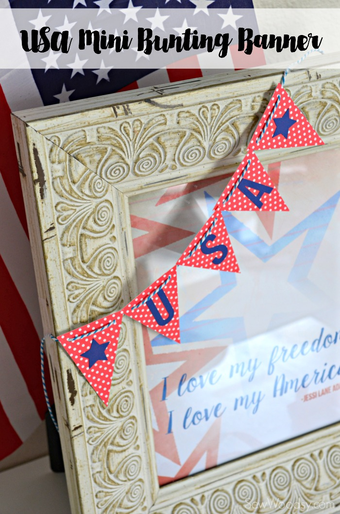 Make this easy DIy USA Mini Bunting Banner!