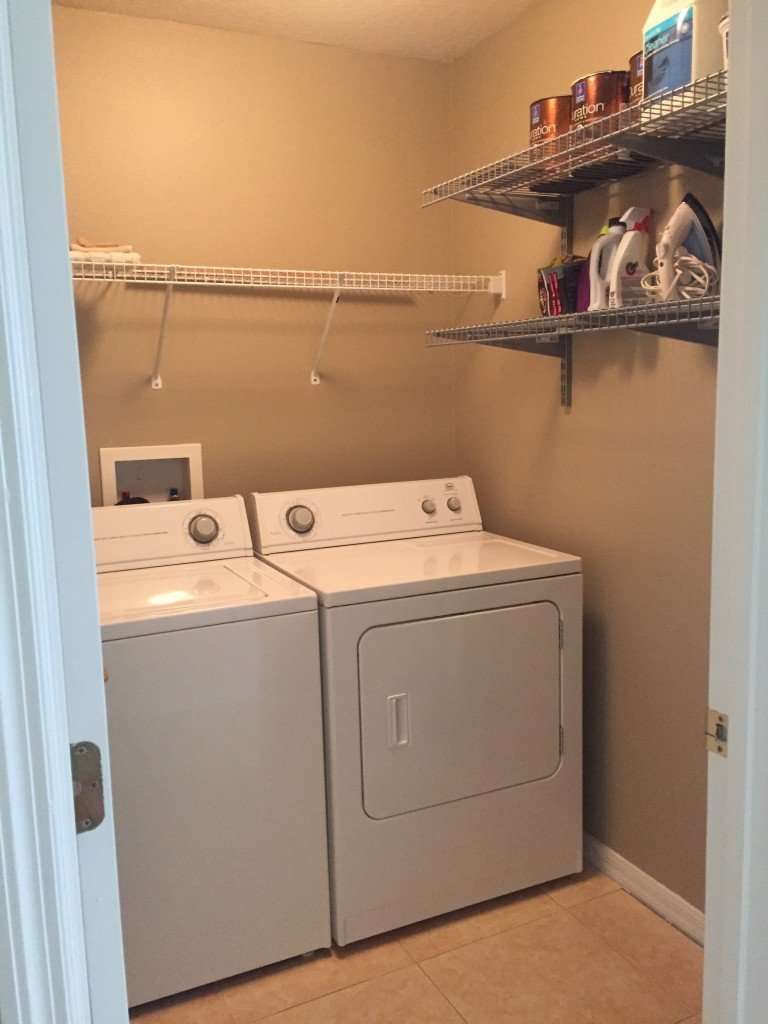 new home laundry room