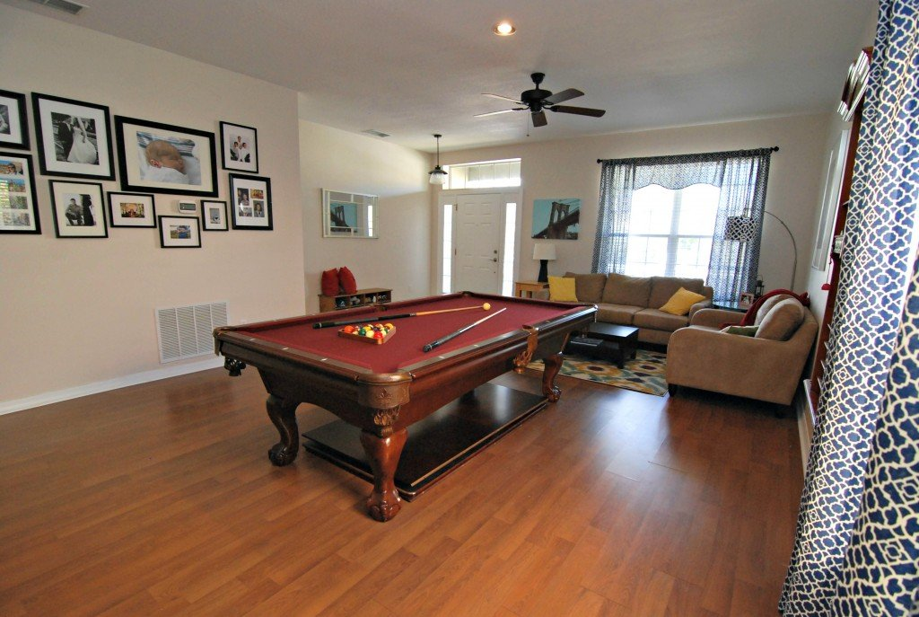 Old house home tour - Pool table house ...