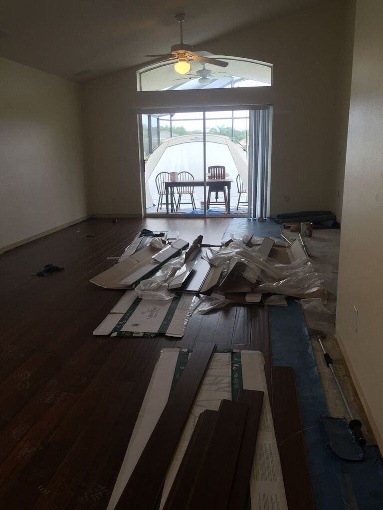 hardwood floor progress