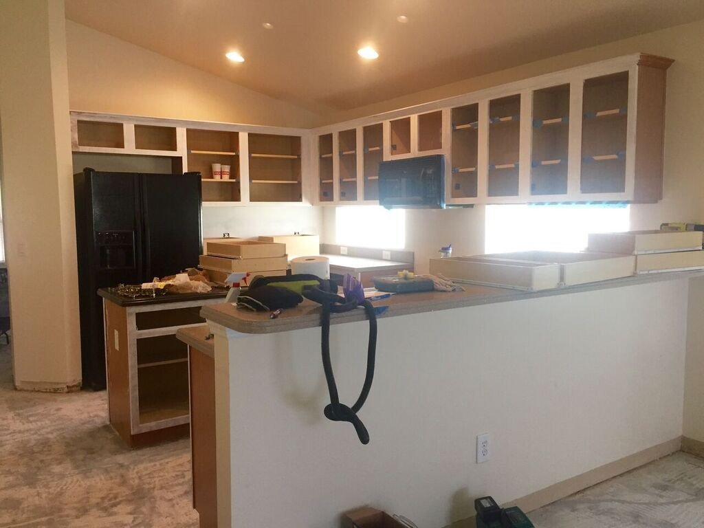kitchen cabinet progress