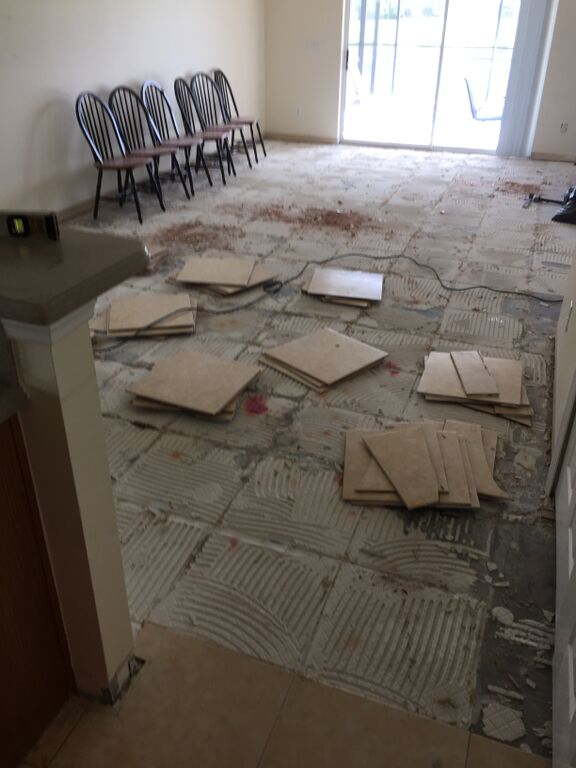 tile demolition