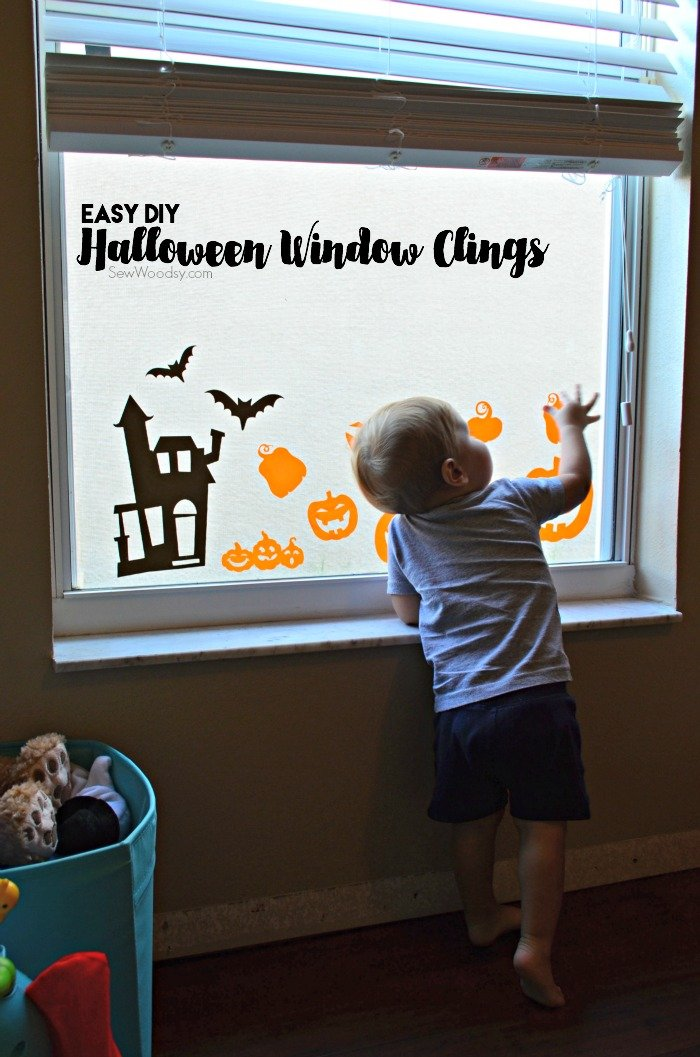 diy halloween window clings - Halloween Window Clings
