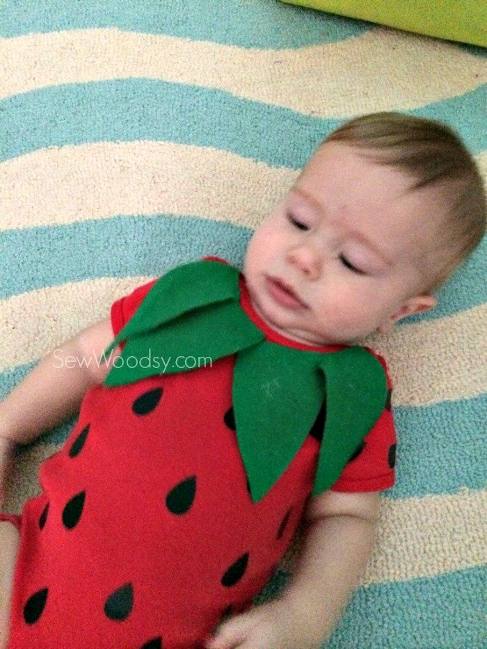 DIY Infant Strawberry Costume