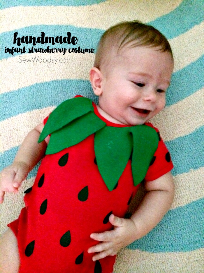 Diy infant strawberry costume sew woodsy diy infant strawberry costume solutioingenieria Gallery