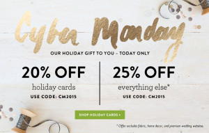 Cyber Monday Deals with Minted