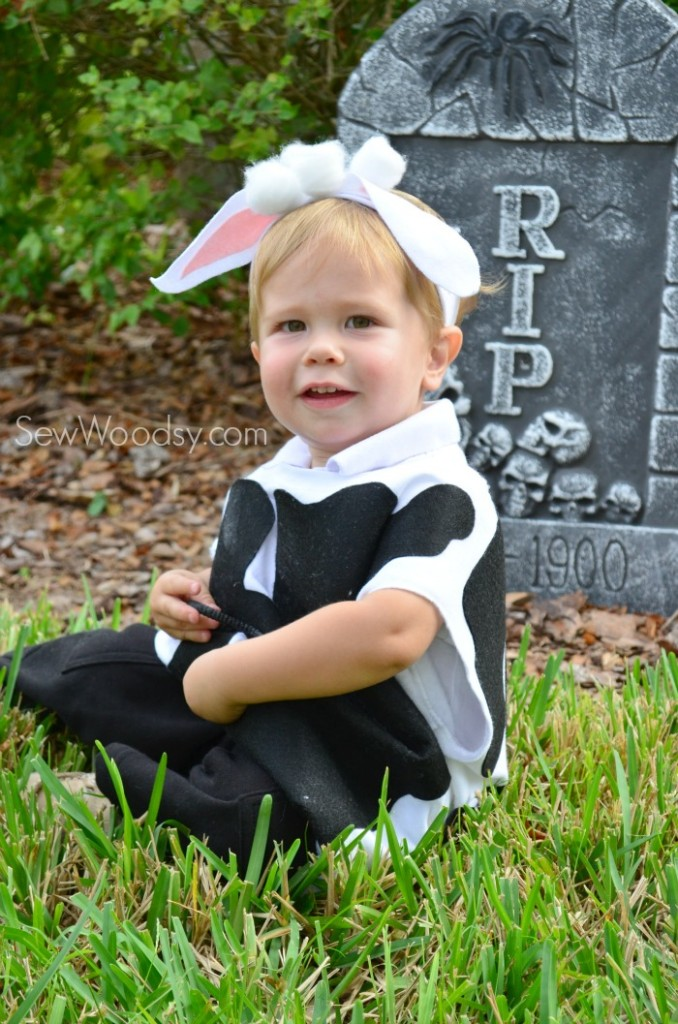 DIY Toddler Cow Costume