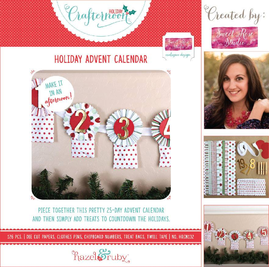 Holiday Crafternoon: Holiday Advent Calendar Kit created by @SweetRoseStudio sold exclusively at @JoAnnFabric #HolidayCrafternoon #hazelandruby #makeitinanafternoon