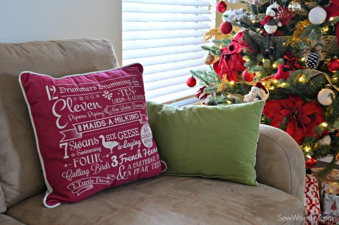 12 Days of Christmas Pillow