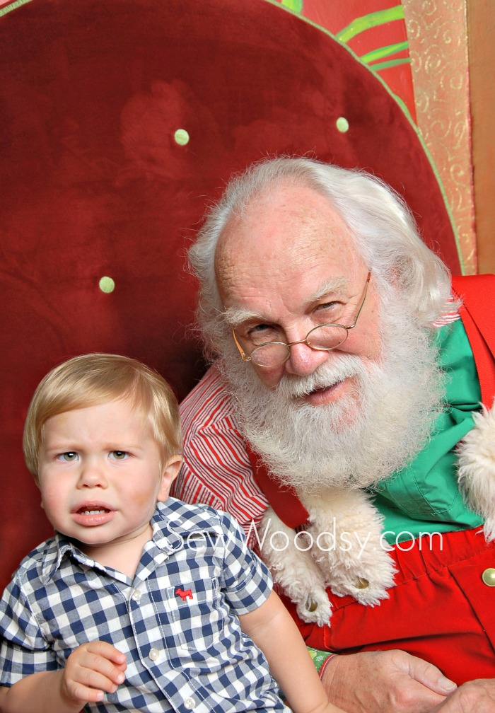 Confused Toddler Santa Photo