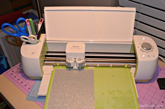 Cricut Explore with Iron-On Glitter Vinyl
