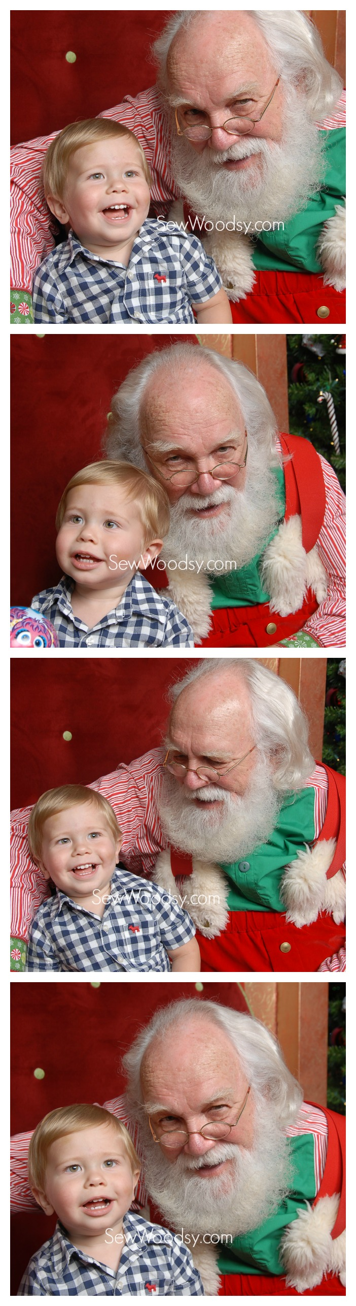 Happy Santa Toddler Photos