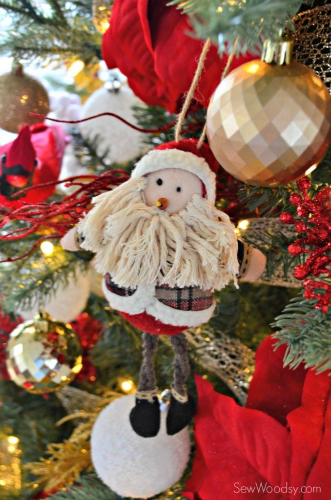 Kid Friendly Santa Cloth Ornament