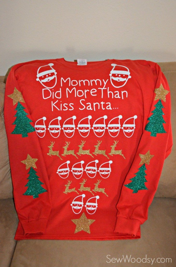 Maternity Pretty Ugly Christmas Sweater | Sew Woodsy