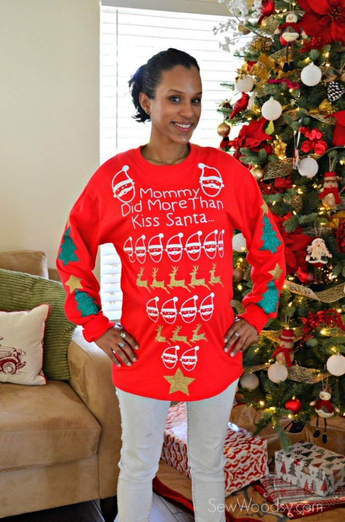 maternity pretty ugly christmas sweater - How To Decorate A Ugly Christmas Sweater