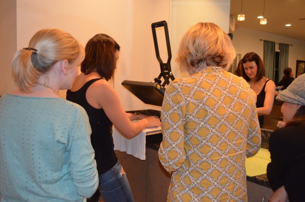 Heat Press in Action