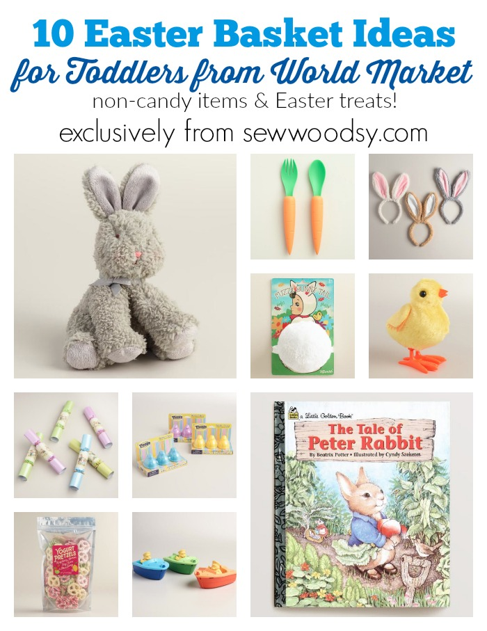 Easter basket pinspiration for toddlers sew woodsy 10 easter basket ideas for toddlers from world market beabetterbunny ad negle