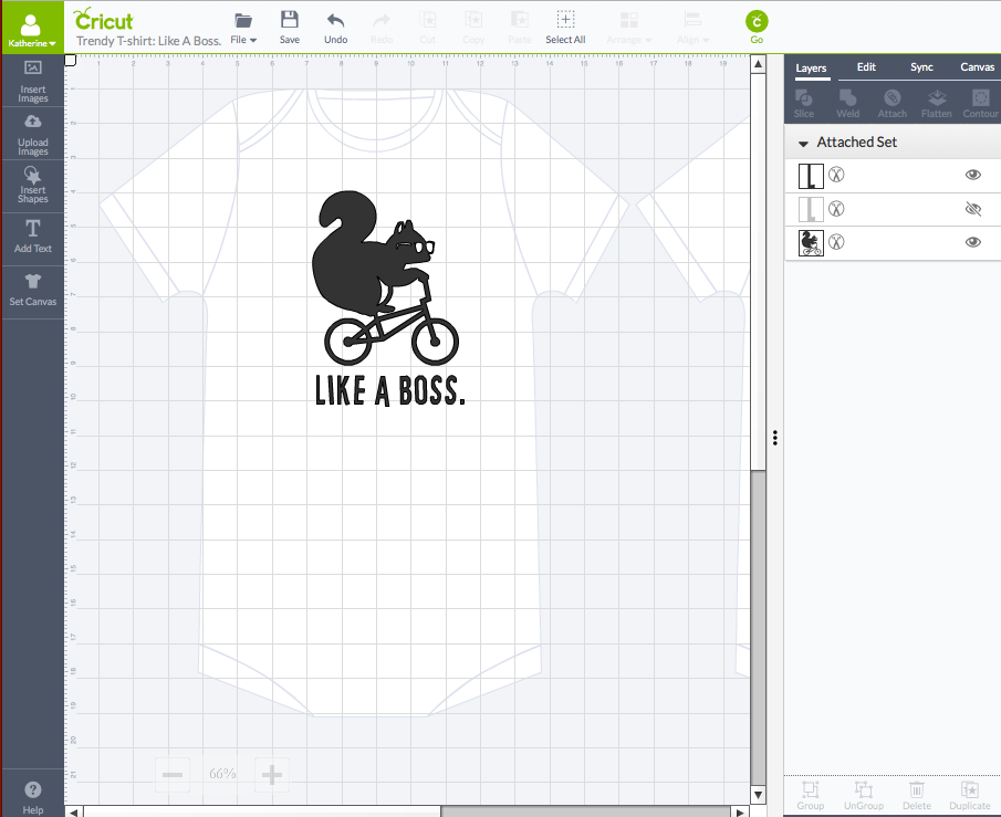 Like A Boss Onesie on Cricut Design Space