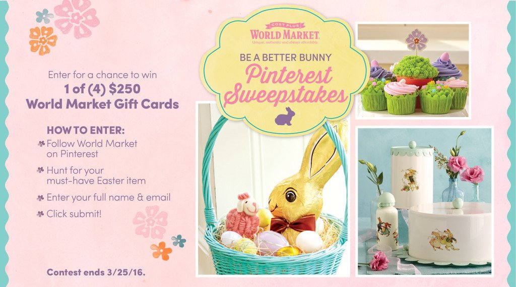 World Market Be A Better Bunny Pinterest Sweepstakes