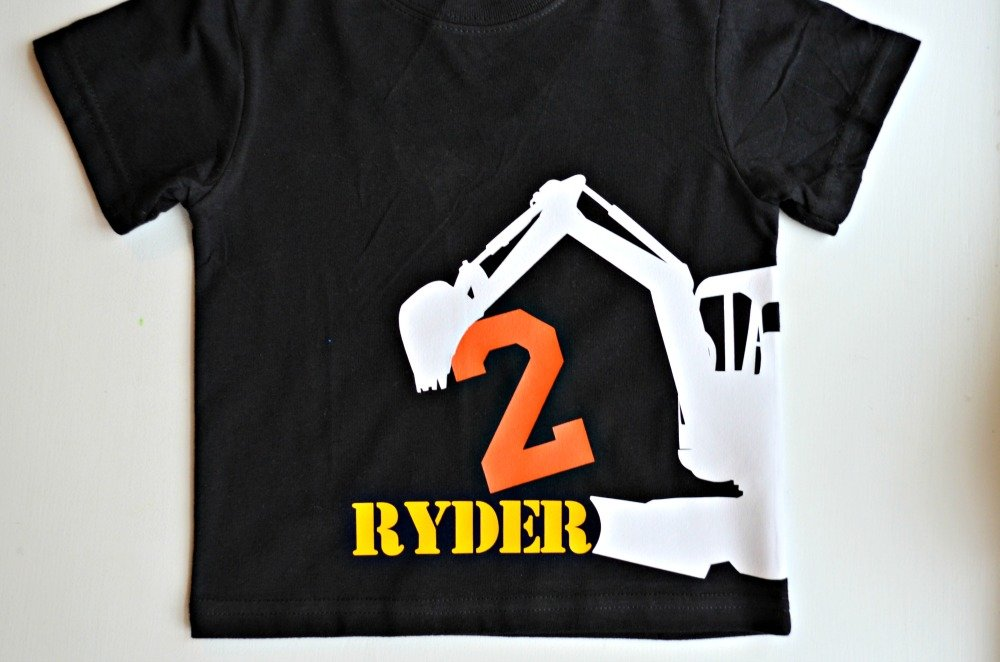 2nd Birthday Construction T Shirt