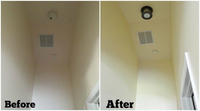 Before & After Hall Light from Lamps Plus
