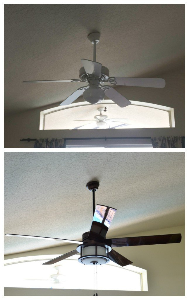 Before and after living room fan