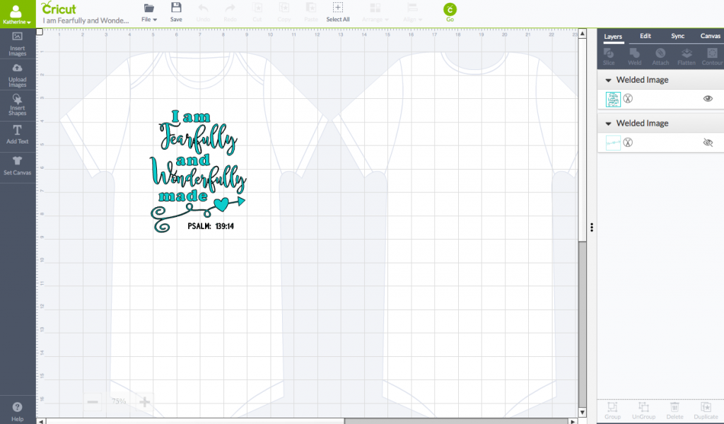 Fearfully & Wonderfully Made Cricut Design Space Screenshot