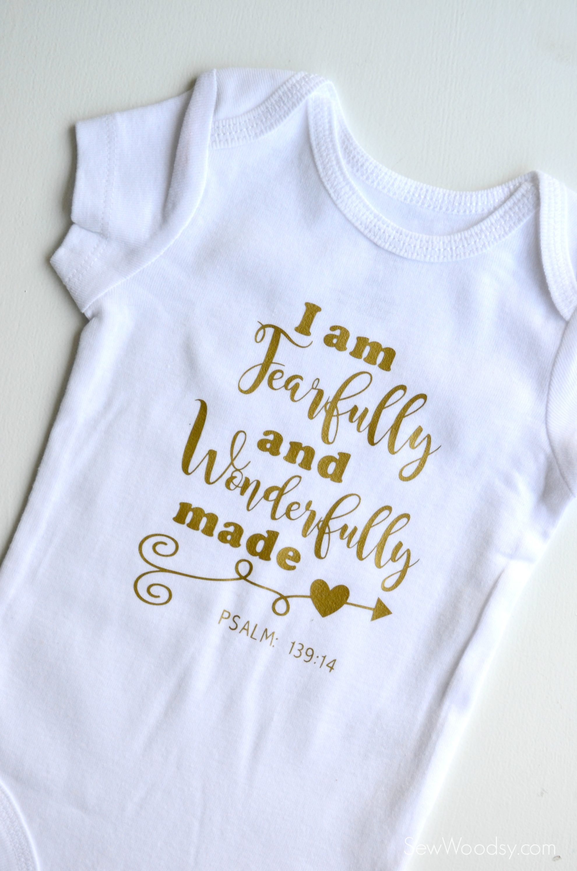 Fearfully and Wonderfully Made DIY Baby Onesie