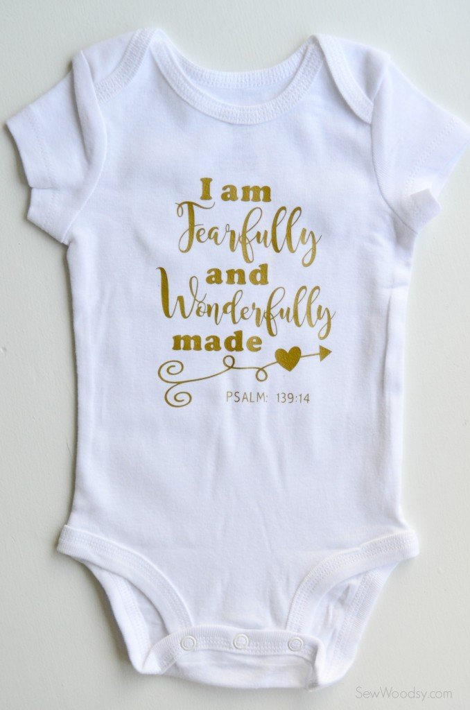 Fearfully And Wonderfully Made Onesie Sew Woodsy