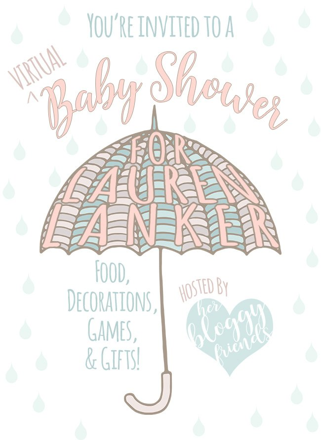 Virtual Baby Shower Invite for Lauren from The Thinking Closet
