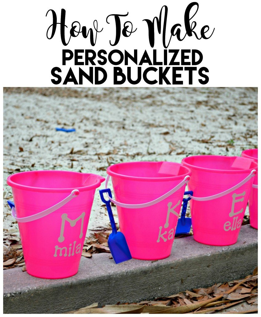 How To Make Personalized Name Sand Bucket