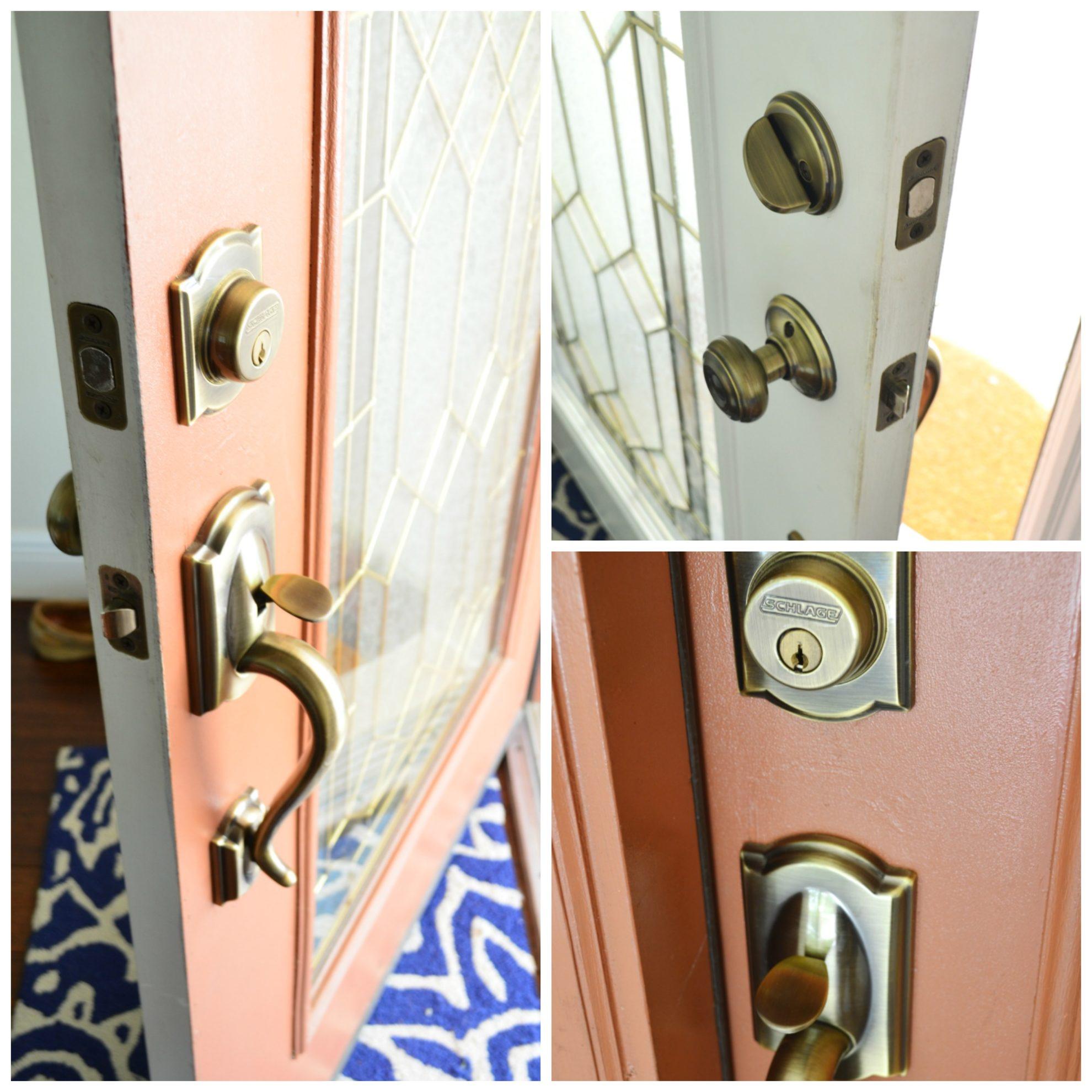 Old Schlage Front Door Lock In Brass Sew Woodsy