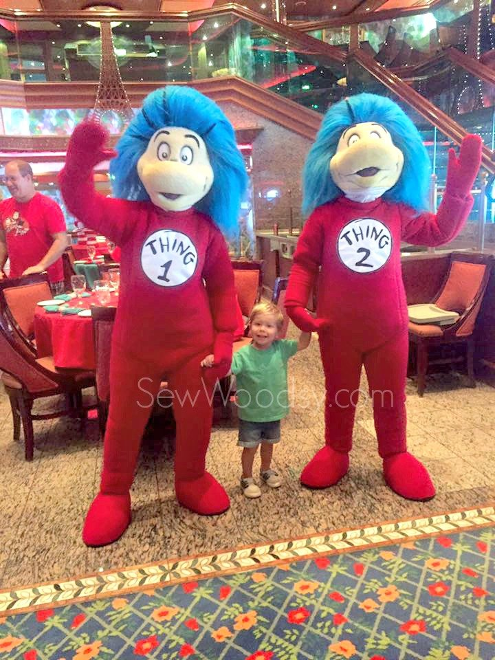 Thing 1 and Thing 2 at Breakfast