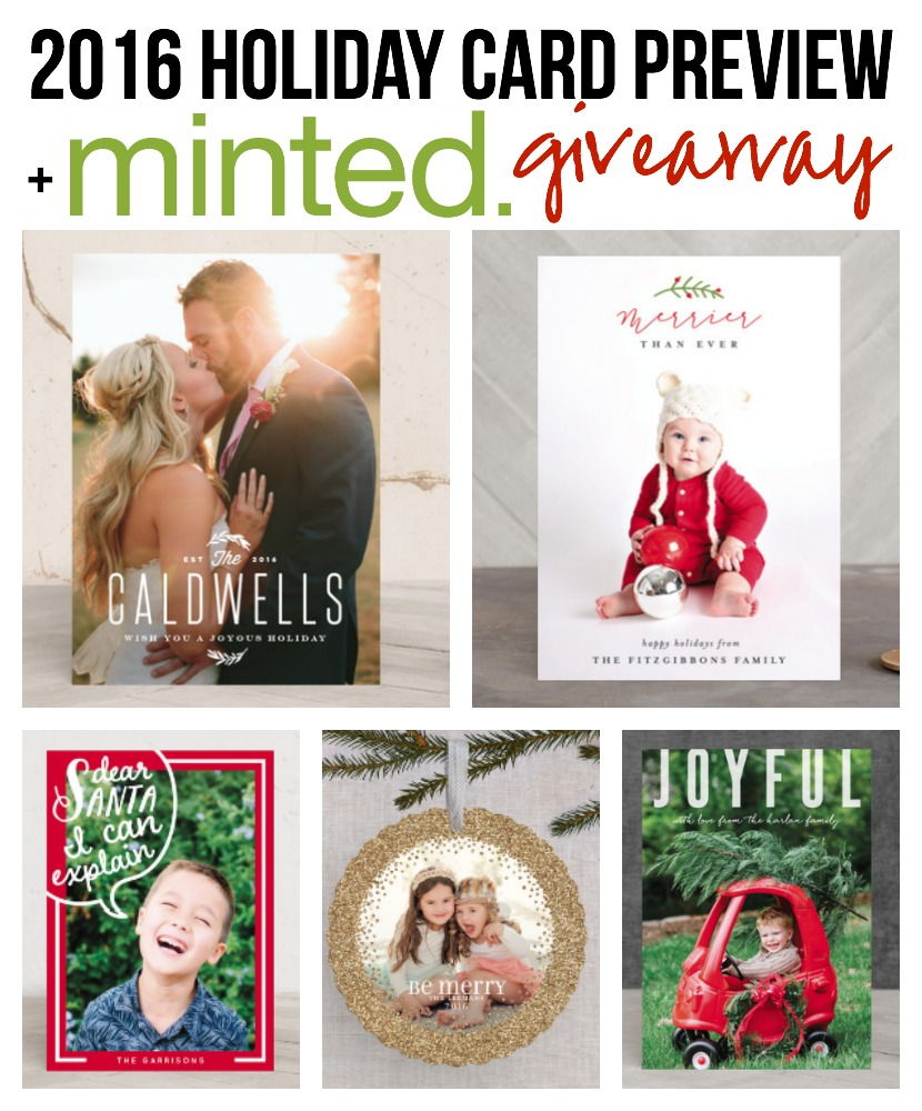 2016 Holiday Card Preview + Minted Giveaway