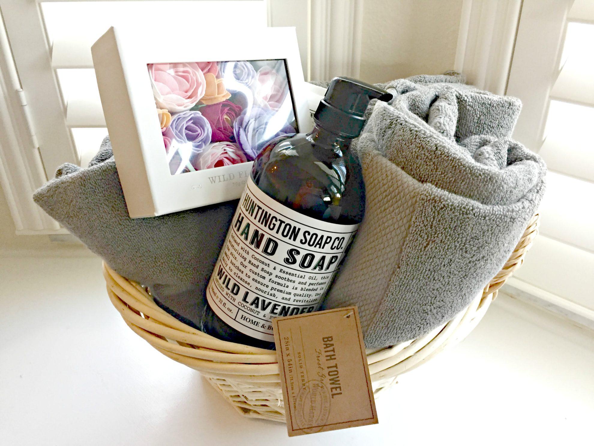 Share The Joy Diy Bathroom Gift Baskets Sew Woodsy