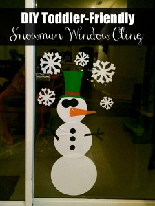 DIY Toddler-Friendly Snowman Window Clings