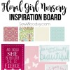 Floral Girl Nursery Inspiration Board