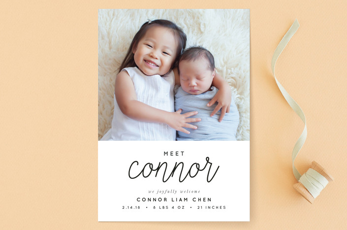 Joyful Baby Birth Announcements