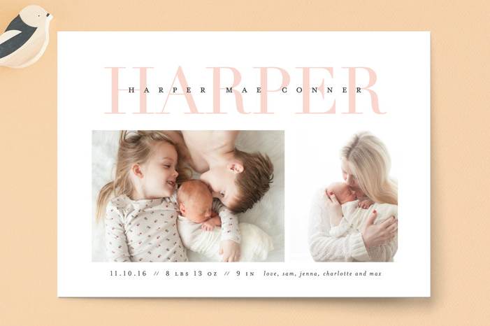 Love-ly Birth Announcements
