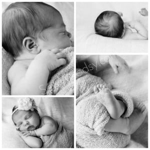 Newborn Photo Black and White Details