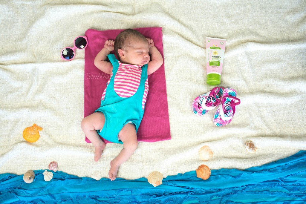 Newborn Sunbathing Photo