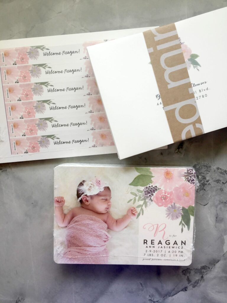 Beautiful Baby Girl Birth Announcements from Minted