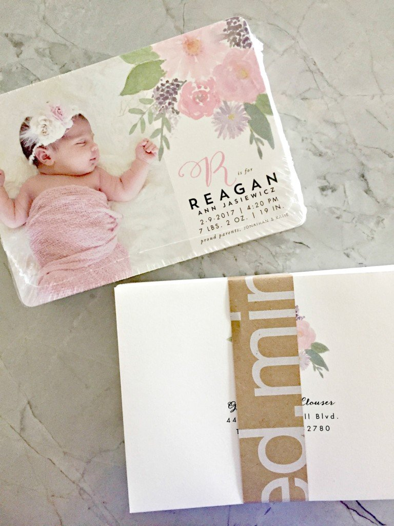 Girl Birth Annoucements with Minted