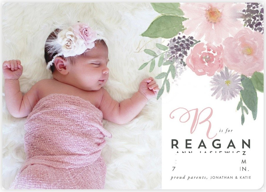 Minted Birth Announcement Front