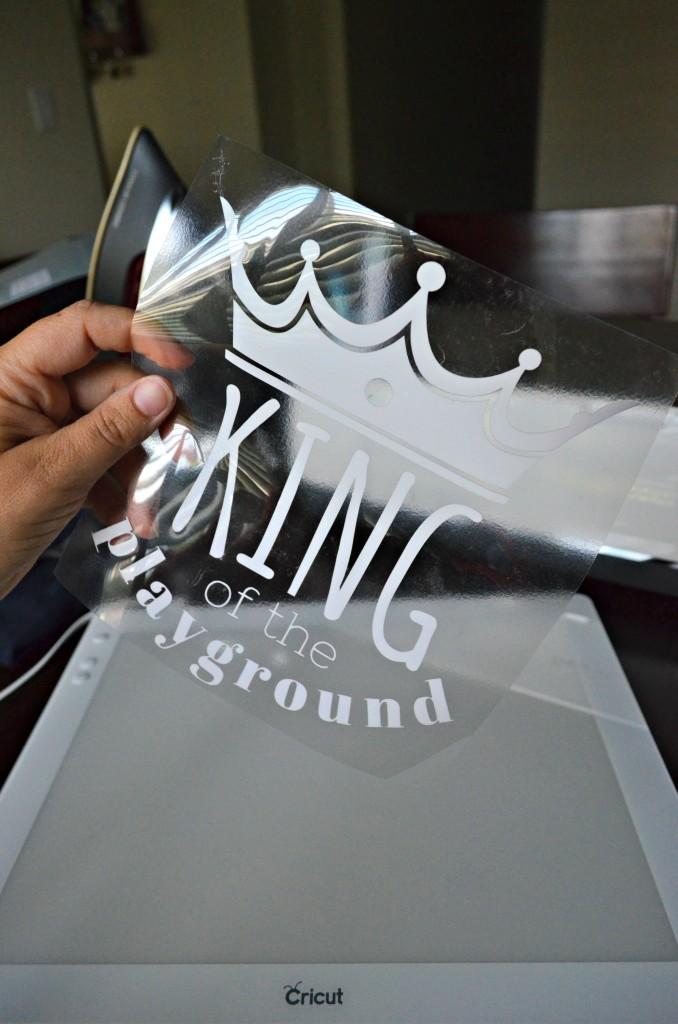King of the Playground Iron-On Vinyl