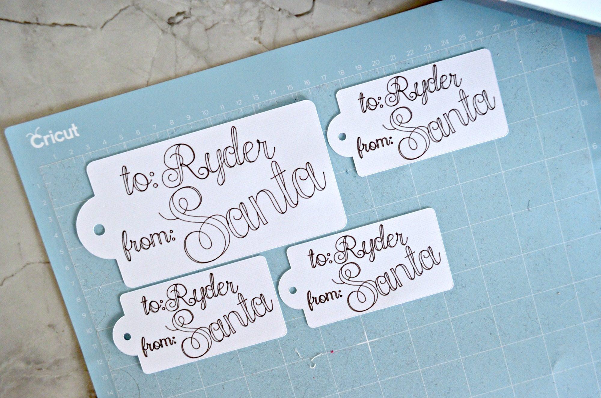 Diy Handwritten Santa Gift Tags Sew Woodsy