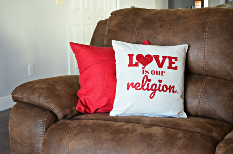 Love is our Religion Pillow + PNG File