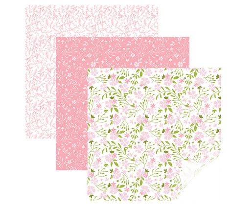 Cricut® In Bloom Pink Patterned Iron-On Sampler