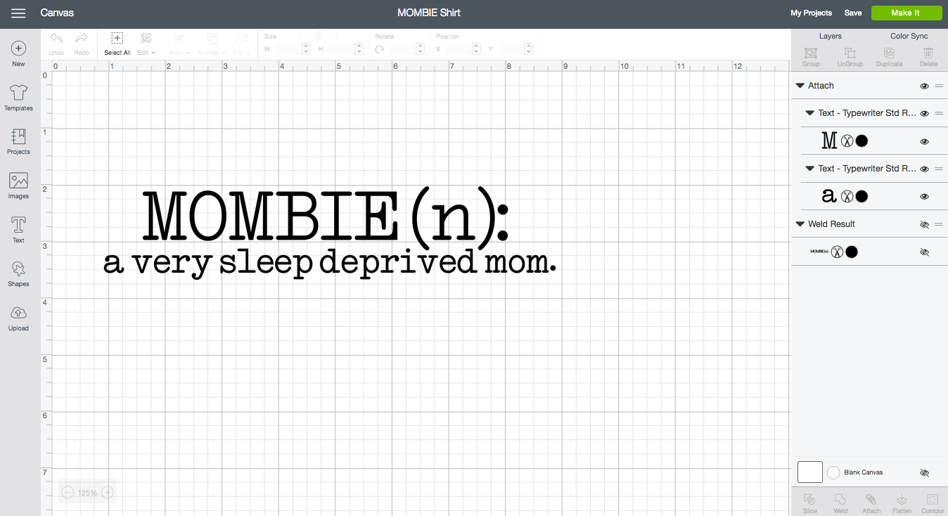 "DIY ""Mombie"" Workout Shirt - Cricut Design Space"